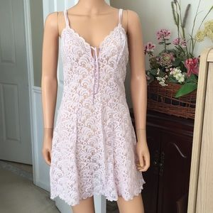 NWOT Delicates lavender lace slip dress